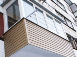 Наружная отделка балконов и лоджий