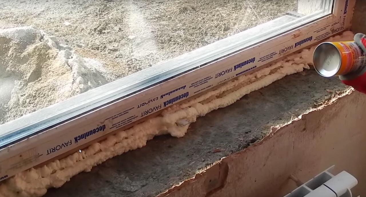 Как поставить пластиковый подоконник