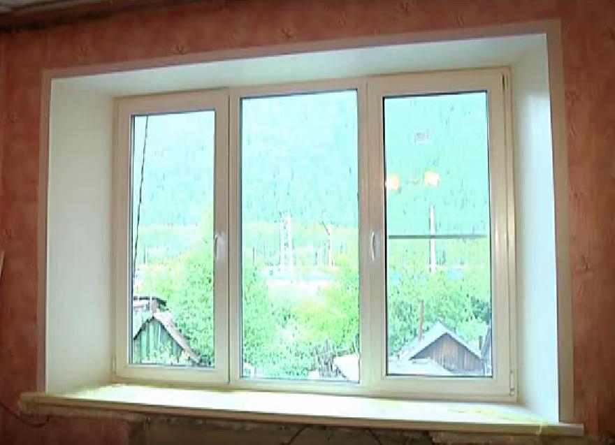 Как вставить пластиковое окно в кирпичном доме