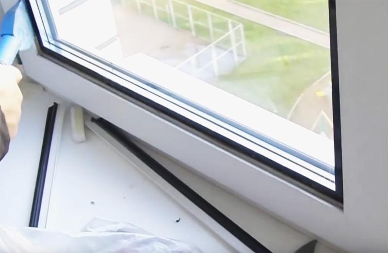 Как снять стекло из пластикового окна своими руками 642